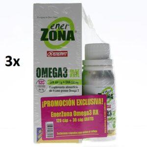 ENERZONA OMEGA 3 RX TRIPLO ACEITE PESCADO 3 X 120 CAPS.+ 3 x 30 CAPS. DE REGALO!!