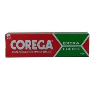 Corega Ultra Crema Extra Fuerte Adhesivo Prótesis Dental, 40ml