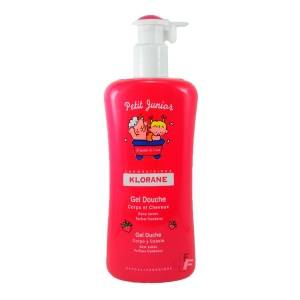 Klorane Petit Junior Gel De Ducha Cuerpo/Cabello Perfume Frambuesa, 500ml
