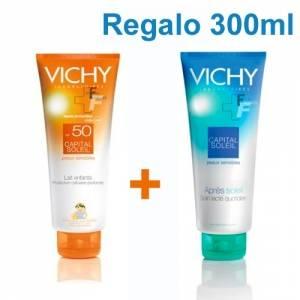 Vichy Capital Soleil Leche Niños SPF50, 300ml + Aftersun pieles sensibles, 300ml
