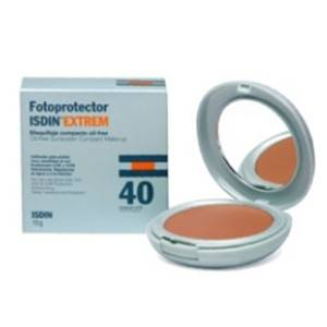 Isdin Fotoprotector Facial Extrem 40 maquillaje compacto