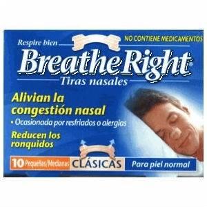 Breath Right Tiras Nasales Clásicas Grandes, 10Ud