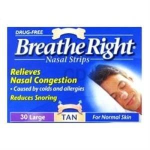 Breath Right Tiras Nasales Grandes, 30Ud