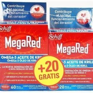 Oferta MegaRed Omega 3 Aceite de Krill 60+20 Cápsulas