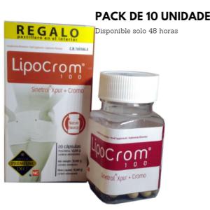 PACK Lipocrom 100 Super Premium Diet, 10 BOTES DE 20 CAPSULAS.