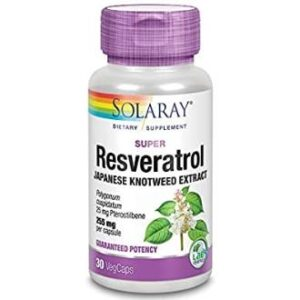 Super Resveratrol 250 mg Solaray 30 cápsulas