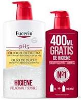 Eucerin Piel sensible pH5 Oleogel de ducha, 1000ml+400ml Gratis