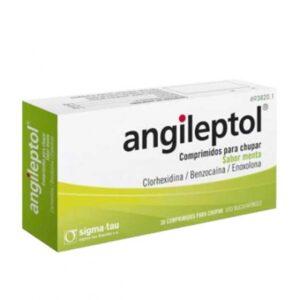 Angileptol 30 Comprimidos Para Chupar (Sabor Menta)