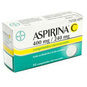 Aspirina C 400 Mg/240 Mg 10 Comprimidos Efervescentes