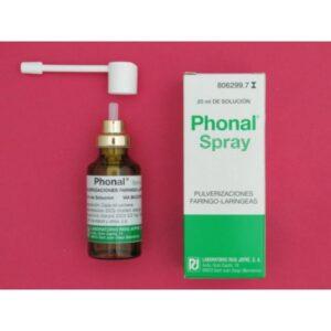 Phonal Spray Solucion Para Pulverizacion Cutanea 1 Envase 20