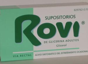 Supositorios Glicerina Rovi Adultos 3.36 G 12 Supositorios