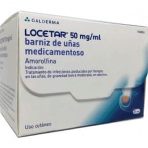 Locetar 50 Mg/Ml Barniz Uñas Medicamentoso 1 Frasco 5 Ml