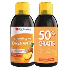 Turboslim Drenante Sabor Piña 2 x 500 ml Forte Pharma