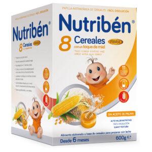 Nutribén 8 Cereales Miel y Fibra, 600g