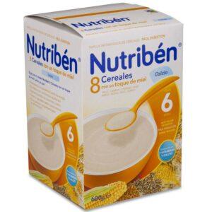 Nutribén 8 Cereales y Miel con Calcio, 600g