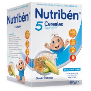 Nutribén 5 Cereales, 600g